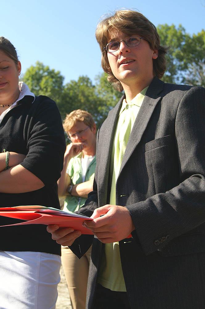 Eröffnung Skatepark 2006 als Sprecher des Dachauer Jugendrates